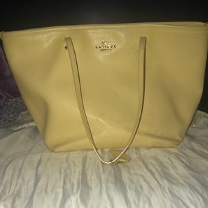 COACH TAXY CROSSGRAIN TOTE PURSE